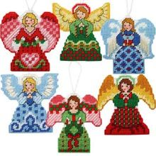 Holiday Angel Ornaments Plastic Canvas Kit - Herrschners