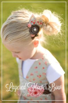 layered flower bow
