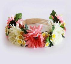 Diadema de flores tocado de, tendencia moda, creacion unica, de flore, moda niño, corona de