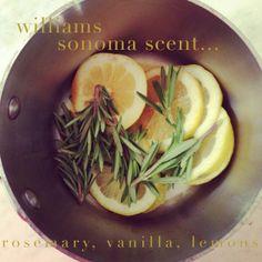 Williams Sonoma Scent and recipe!   LovelyBride.com/blog