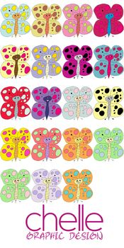 CLIP ART: 20 Beautiful Butterflies!