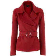 Akris Red Cashmere Jacket