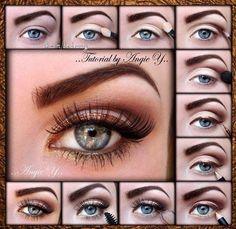 *****Bronze winged makeup tutorial