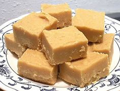 Peanut Butter Fudge Recipe - (ahistoryinthebaking.blogspot)