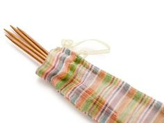 Start your next pair of socks the right way with Lantern Moon Sox Stix. Each pack comes with five double-pointed needles in three different sizes, all wrapped in an adorable organza reusable bag. Get these needles for 35% off, plus get 50% off the Craftsy online class Knit Sock Workshop with Donna Druchunas! Click the image to get your needles and knit sock class now! #knitting #knitsocks