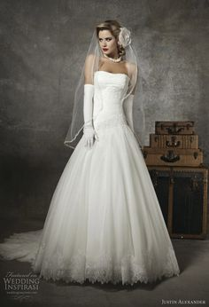 Justin Alexander    #fashion #wedding #bridal #dress #gown #justinalexander