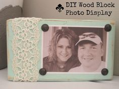 wood block photo display