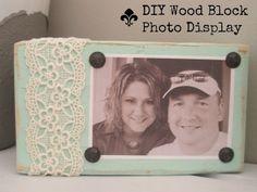 wood block photo display