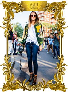 Carlotta Oddi  wearing the DANE sandal at MFW