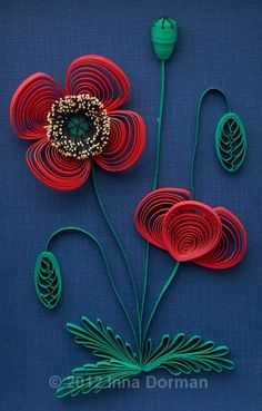 Paper Quilling - Poppies by Inna Dorman