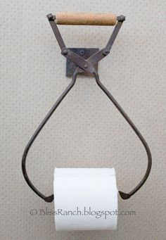 Ice Tongs Toilet Paper Holder