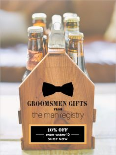 8 unique groomsman gift ideas from The Man Registry + a coupon code from the #weddingchicks #score