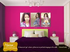 interior design, canvas ideas, preteen bedroom, wall displays, portrait art