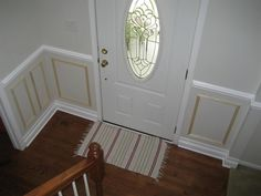 Picture Molding Wainscot In Foyer And Stairway - Project Showcase - DIY Chatroom - DIY Home Improvement Forum