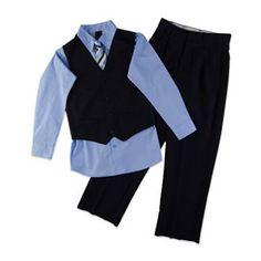 Van Heusen 4-pc. Striped Vest Set - Boys 8-20