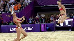 Misty May-Treanor and Kerri Walsh Jennings win 3rd straight beach volleyball gold medal - CBS News
