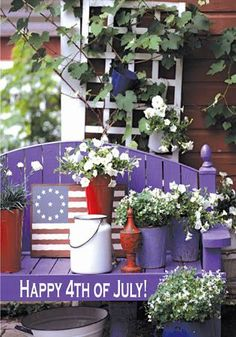 outdoor fourth of July decor