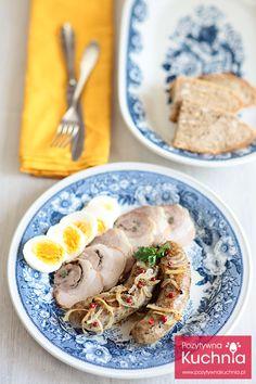 Biała kiełbasa pieczona z cebulą - #przepis na #sniadanie na #wielkanoc  http://pozytywnakuchnia.pl/biala-kielbasa-z-cebula/