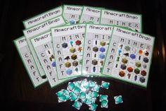 Minecraft party activity - bingo!