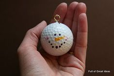 ornament idea out of a golf ball