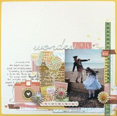 Wonderful - by Shimelle Laine using the Dear Lizzy Neapolitan collection from American Crafts. #dearlizzy #americancrafts #scrapbook