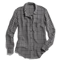 Silk Boyshirt in Checker - Madewell.com