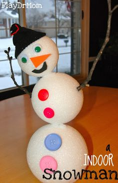 PlayDrMom shows how to make an interactive snowman!