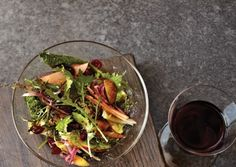 Wilted Mustard Greens Salad with Cranberry Dressing | Vegetarian Times