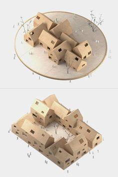 Swedish Wooden Models / #architecture #house #model #wood