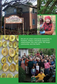 We are an urban cohousing community in Portland, Oregon cultivating supportive relationshipw with each other, the larger community, and the Earth.