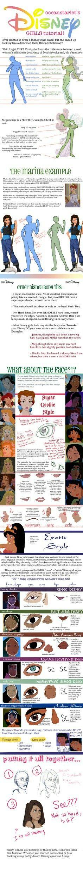 How to draw Disney princesses:)