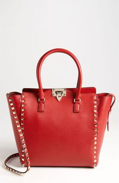 Valentino 'Rockstud - Double Handle' Leather Tote