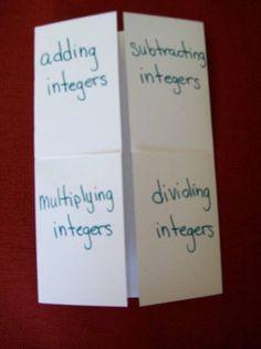 integers foldable