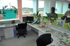 Cubicle decoration day by sayakb, via Flickr