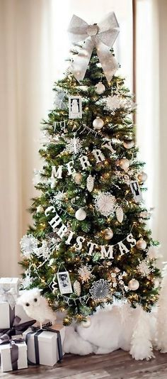 Merry christmas on a christmas tree..elegant