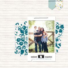 scrapbook idea, scrapbook layout, fall famili