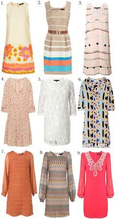 60s inspired shift dresses