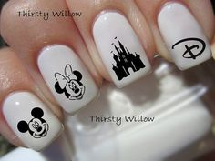 Disney Nail Decals by ThirstyWillow on Etsy, $2.75
