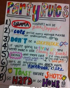 party rules, lol