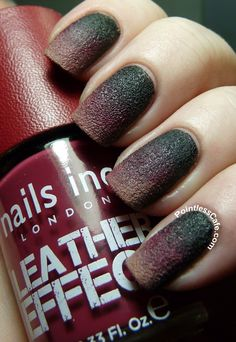 Fun with Nails Inc. - Leather Effect Gradient | http://pointlesscafe.com/