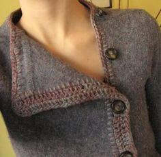 former oversized men's pullover.