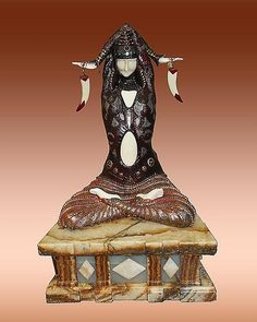 Demetre Chiparus-Bronze and Ivory Sculpture -Civa