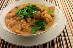 Slow Cooker Indian Stew with coconut milk and tons of wonderful spices -- serves 9.