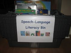 The Next Chapter in my Speech World: Speech-Language Literacy Bin