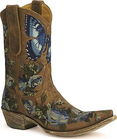 OMG OMG boots and butterflies!!!! Love Old Gringo!