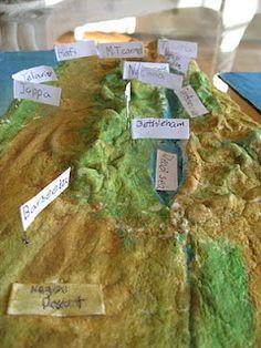 Salt dough map of Israel