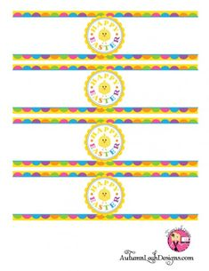 Free Easter party printables water bottle labels featuring cute chick. #Easter #Printables