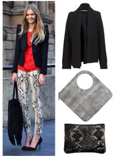 how to wear python, red, black and white, fall fashion, style, lionesquestyle.com