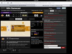 Real-time Basketball game data dashboard by ESPN