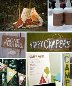 """Fantastic ideas for backyard campout birthday party -- """"cowboy"""" food, cakes, decorations, tents"""